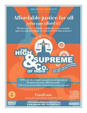 The High and Supreme Co. Affordable justice for all. (Conditions apply)