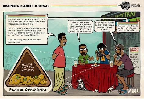 Chacko bites into the aloo-matter of the Kochi Bianele