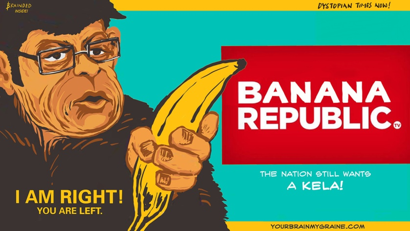 The notion wants to neigh! The republic goes bananas! By Brainded Art Group (BAG) & Goobe's Book ... Republic?!