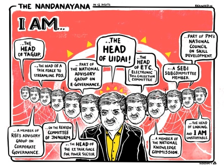 The 12 linked heads of Nandana