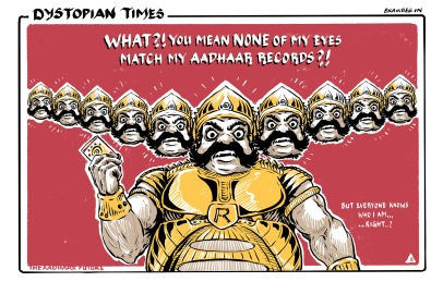 The aadhaar future - no one can kidnap your wife now! Rewriting the past for a better future.