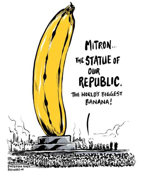 A tall source of potassium and patriotism.