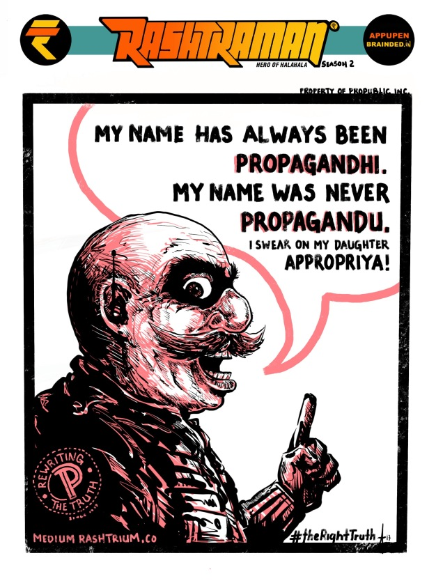 """""""His name was always Propagandhi!"""" —Anupam Kher By Appupen"""