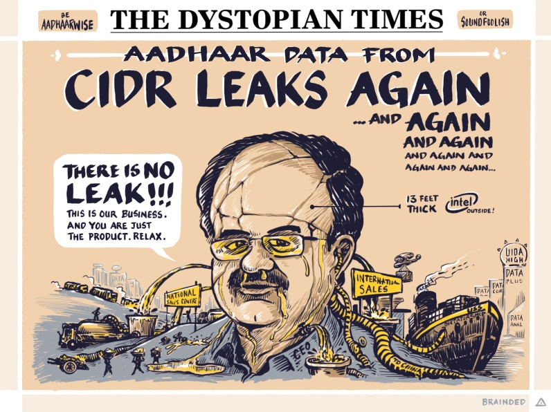 No leak at CIDR (Central Identities Data Retailers) Pvt Ltd