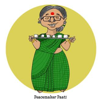 Peacemaker Paati, always ready with a cup of tea and a warm smile, could make a cat befriend a dog. By Lavanya Karthik. Find out which supergranny you are! https://uquiz.com/zBb629/what-kind-of-a-supergranny-is-yours
