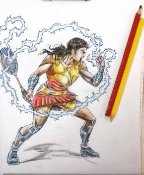 Creator of super commando Dhruv and all-round legend Anupam Sinhaji presents Sindhu depicted as Shaktiroopa (an upcoming series of Super commando Dhruv too!).